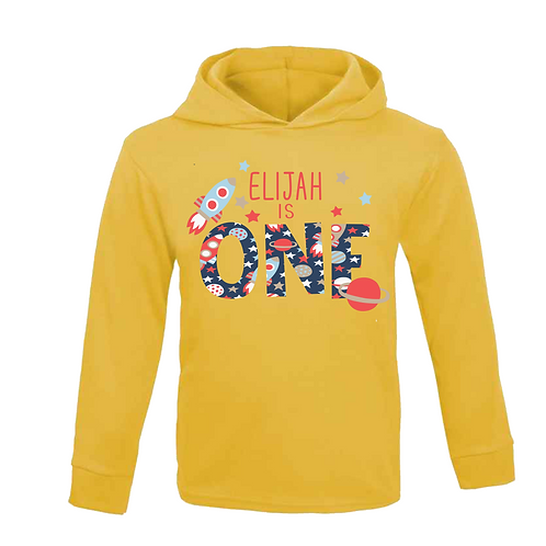 Space Birthday Hooded Top