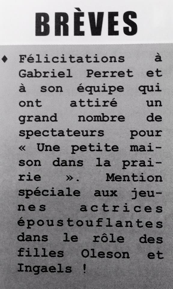 Brèves - Bulletin Municipal janvier 2015 - Saint-André