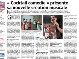 Cocktail Comédie dans l'Indépendant !