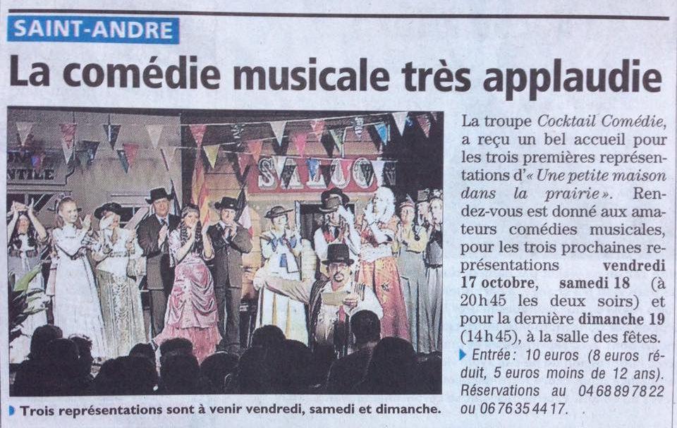 Article - Journal L'Indépendant - Octobre 2014