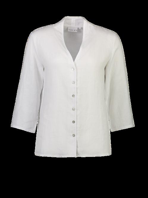FOIL Linen V Neck Shirt 6141