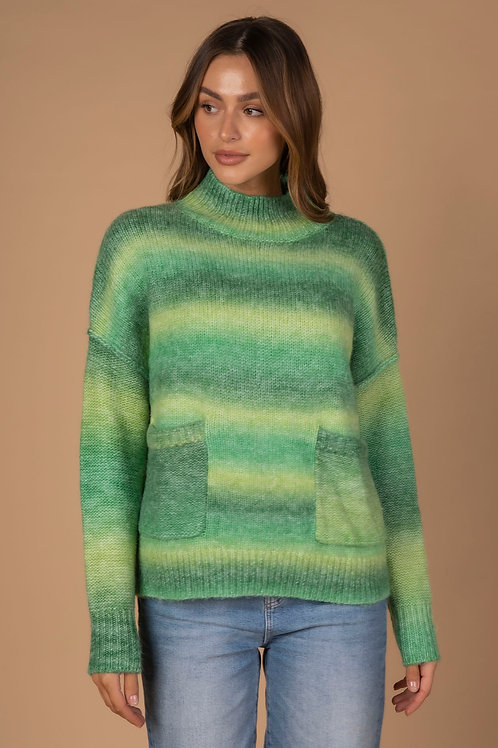 LD & CO Green Multi Ombre Knit LC3166