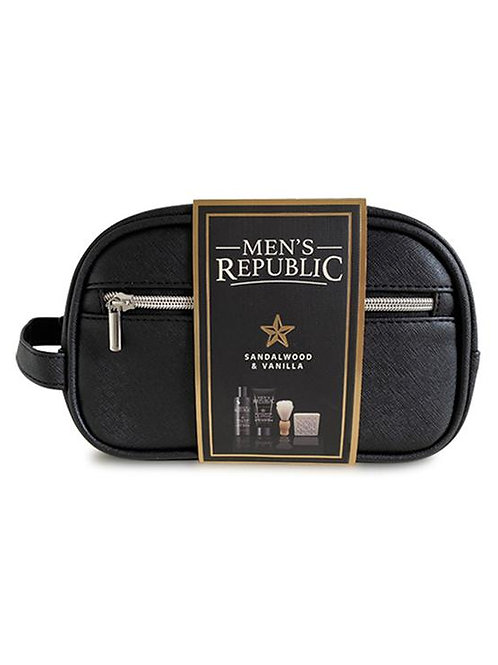 MEN'S REPUBLIC Grooming Kit - 4pc Cleansing in Toiletry Bag