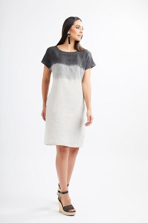 FOIL Dip Dye Linen Shift Dress 5914