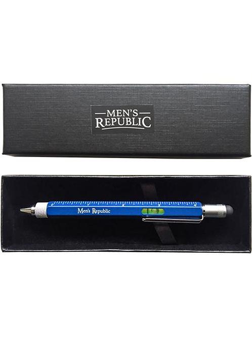 MEN'S REPUBLIC Stylus Pen Pocket Multi Tool 9-in-1 functions - Blue