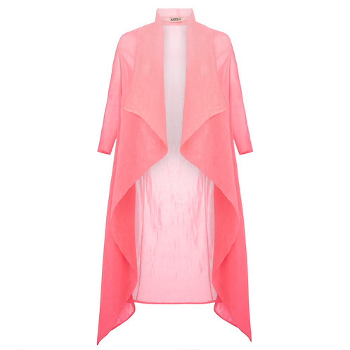 ALQUEMA Collare Coat Pink on Pink Ombre  AC2404