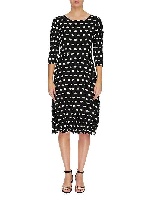 ALQUEMA 3/4 Sleeve Smash Pocket Dress Elliptic Spot ADC544