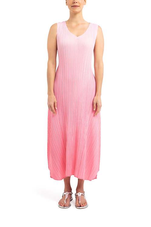 ALQUEMA Estrella Ombre Pink on Pink V Neck Structured Dress AD1072L
