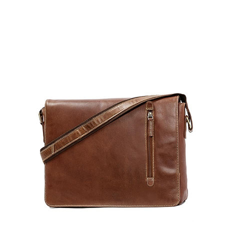 JLP BARWON MEN'S LEATHER MESSENGER BAG