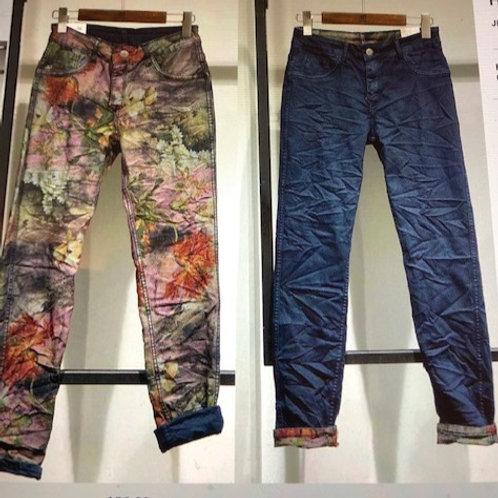 ONADO Oriental Bloom Print Reversible Jean H617NB