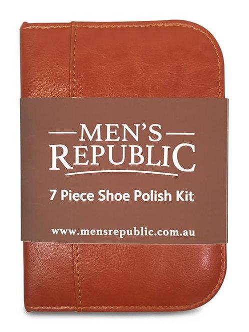 MEN'S REPUBLIC Shoe Shine Kit - 7 Pieces in Zipper Bag