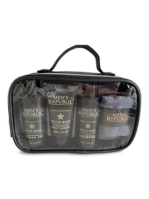 MEN'S REPUBLIC Grooming Kit - 4pc Shower Cleansing in Carry Bag