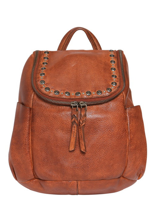 Modapelle Leather Stud Detail Backpack  Boho Collection 5940 TAN