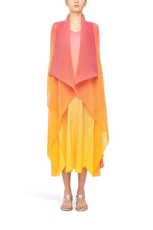 ALQUEMA Collare Coat Hot Pink Yellow Ombre  AC2404