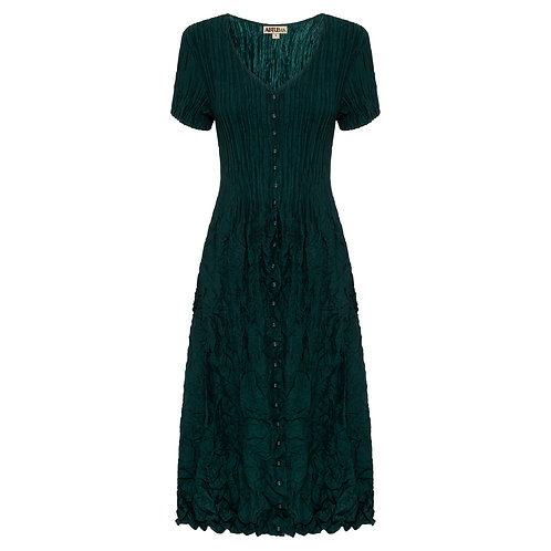 ALQUEMA Capro Dress Blue/Green Solid ADC546