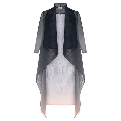 ALQUEMA Collare Coat Charcoal Goes Light Ombre  AC2404