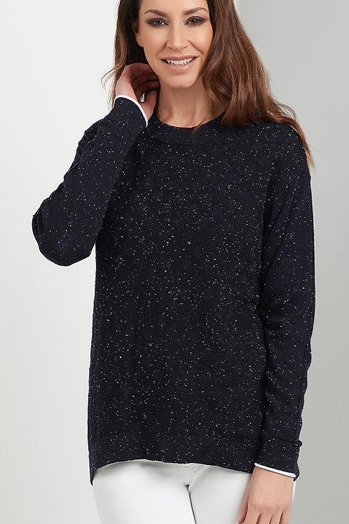 FOIL Speckle Jumper With Self Embossed Dot