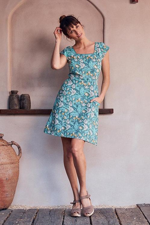 MAHA SHE Anna Lily Print Tunic Dress Style 303-20