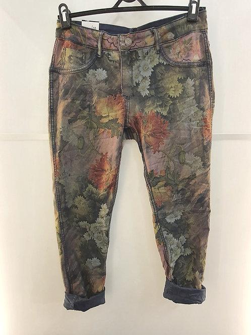 ONADO Oriental Bloom Print Reversible Jeans H513