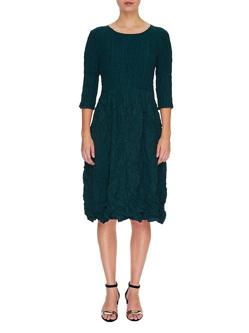ALQUEMA 3/4 Sleeve Smash Pocket Dress Blue/Green Solid ADC544