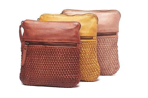 Rugged Hide/Oran Teagan Soft Leather Crossbody Lattice Detail Bag RH-2225