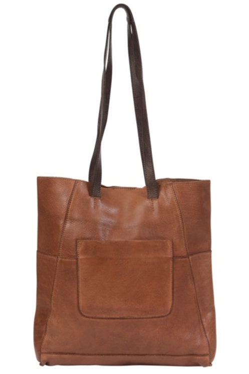 Modapelle Two Tone Leather Tote 6337