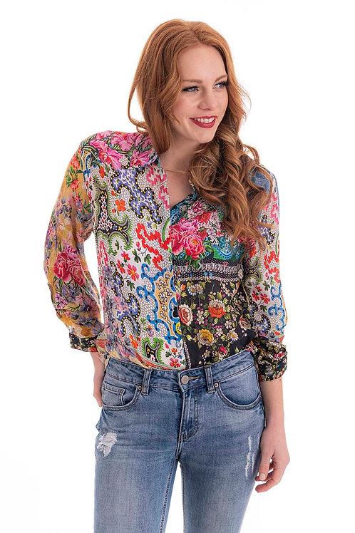 CIENNA Garden Patch Silk Shirt