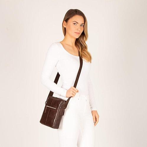 Mentone Zip Unisex Leather Crossbody