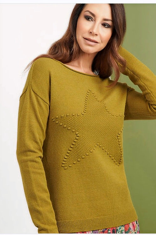 FOIL Wide Crew Star Detail Pullover