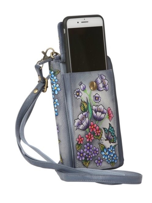 Modapelle Hand Painted Collection Phone Wallet with Strap 3230