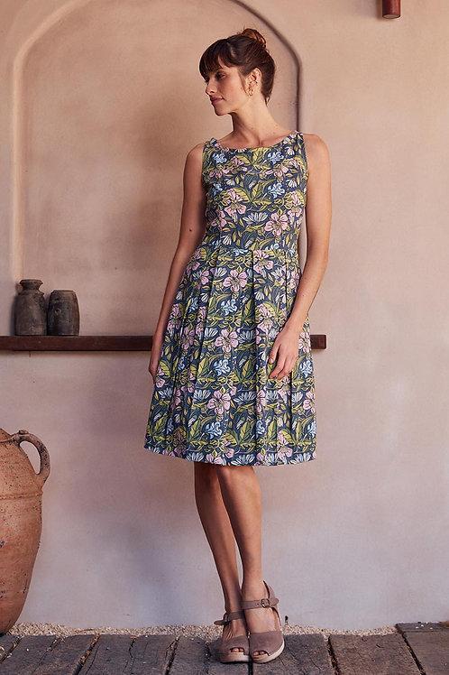MAHA SHE April Hibiscus Print Dress Style 236-20