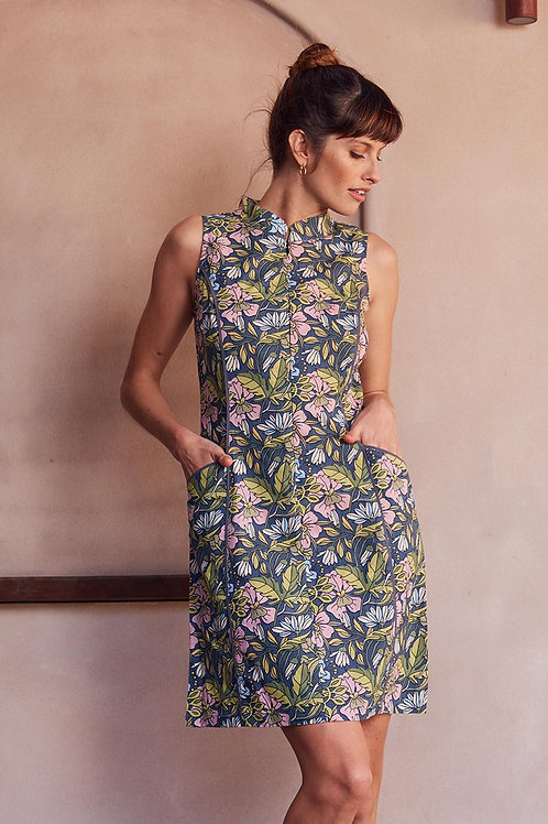 MAHA SHE Jasmine Hibiscus Print Dress Style 243-20