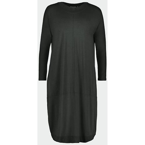 FOIL Dark Khaki Relaxed Stretch Dress