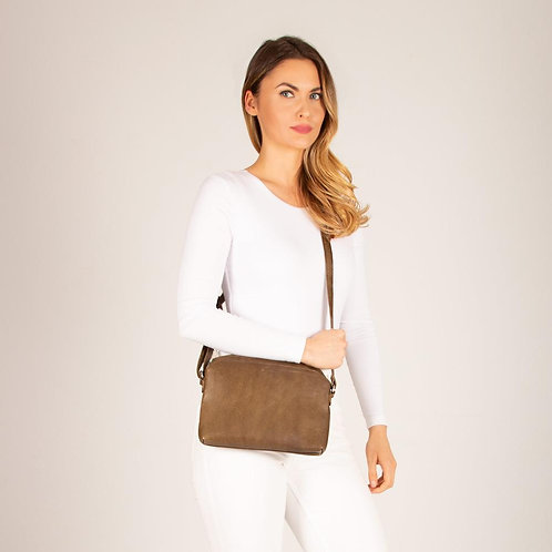 Claremont Triple Pouch Leather Crossbody