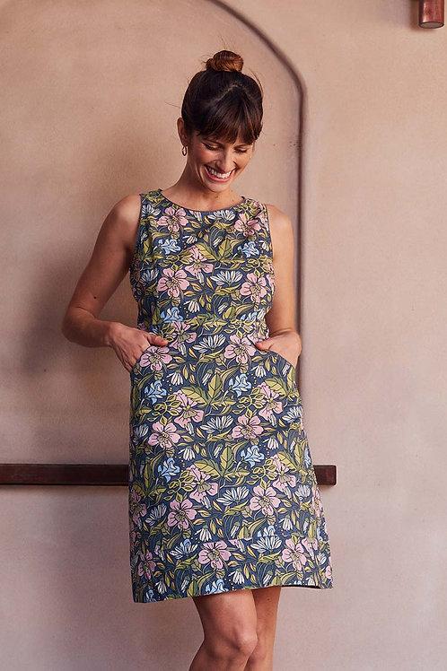 MAHA SHE Alana Hibiscus Print Dress Style 240-20