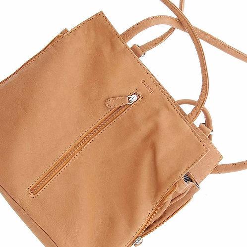Ellie Leather 2 in 1 Convertible Shoulder Bag / Backpack
