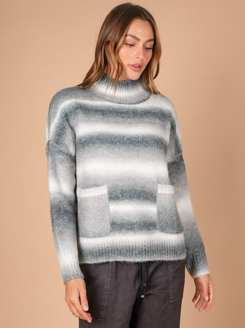 LD & CO Grey Multi Ombre Knit LC3166