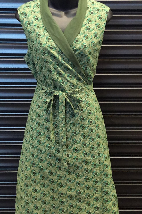 MAHA SHE Clover Jade Print Reversible Dress