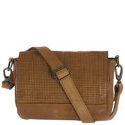 Stockton Washed Leather Flapover Messenger