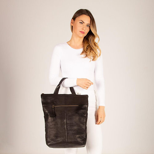 Belmont Sleek Leather Backpack