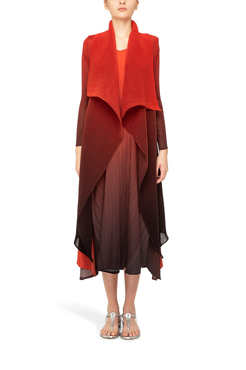 ALQUEMA Collare Coat  Red Charcoal Ombre AC2404