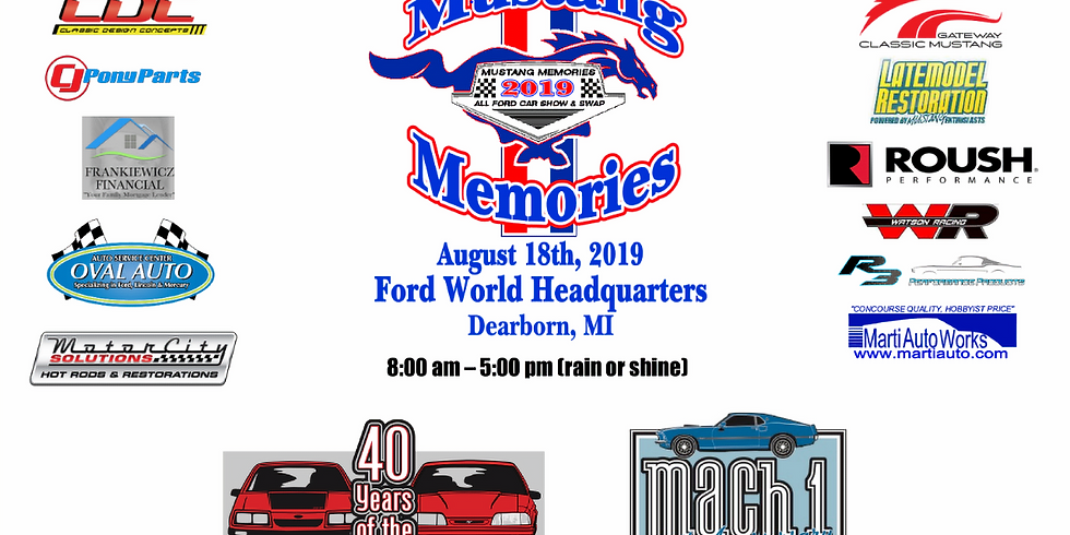 Mustang Memories All Ford Show & Swap