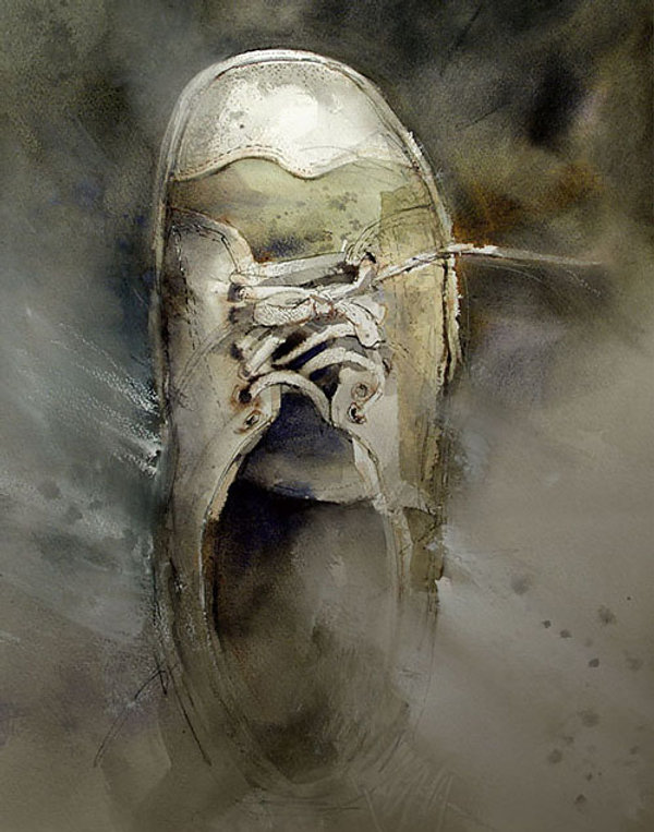 One Shoe Off - © John Lovett