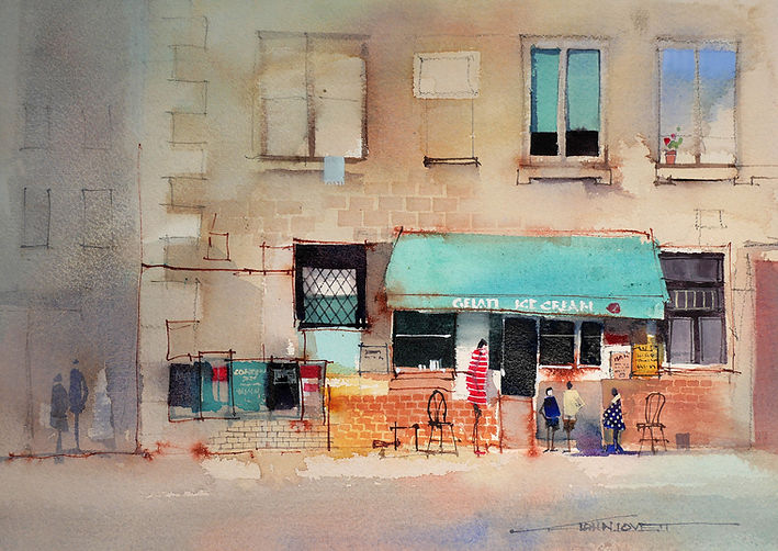 Watercolor Painting demonstrating compound colors