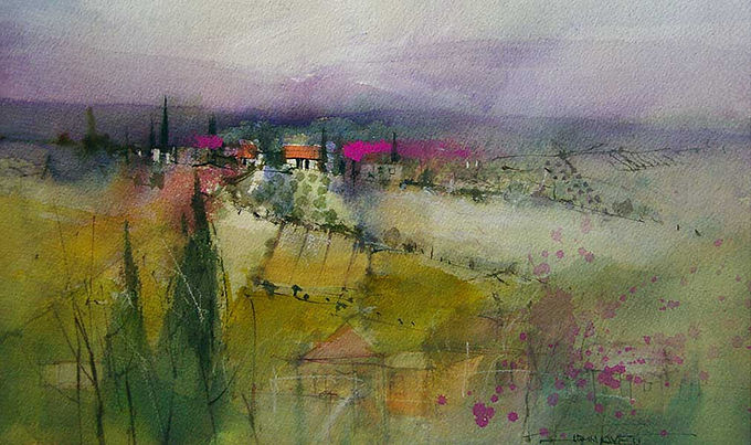 Mixed Media with acrylic, ink gouache gesso and watercolor  © John Lovett