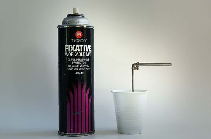 Workable fixative painting varnish