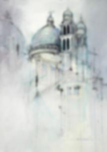 Watercolor sketch in Gray