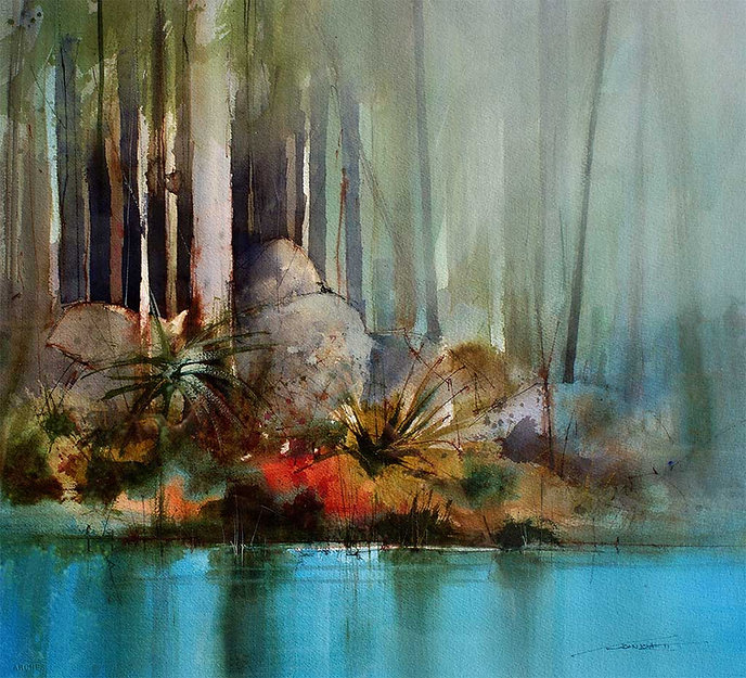 Painting Water - Phthalo Blue Glazes - © John Lovett