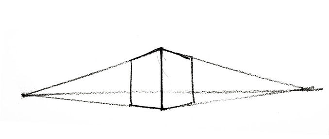 Simple perspective drawing of a box.