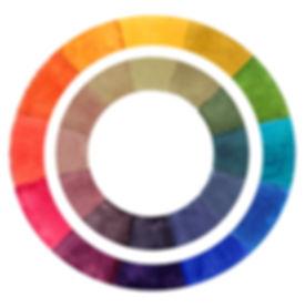 Watercolor Color Wheel showing Compound Colors